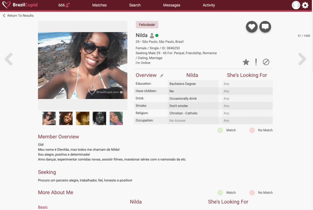 BrazilCupid Member Profile